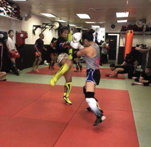 kick sparring women muay ying queens new york sitan gym