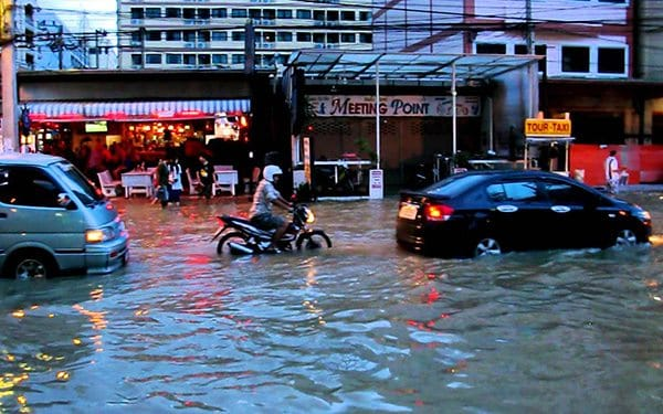 Flash floods in Thailand are no joke! Thankfully, they don't usually happen often, and they're not always this bad. Image from What's On Sukumvit