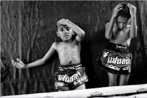 kids fighter muaythai photography boxing ring