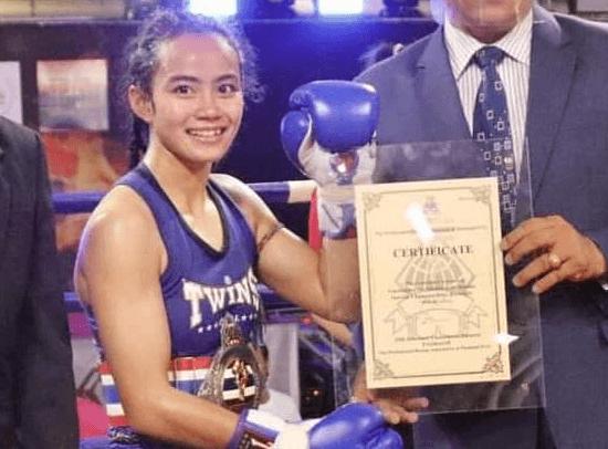 phayahong thailand champion pat muay thai female fighter woman nakhon ratchasima